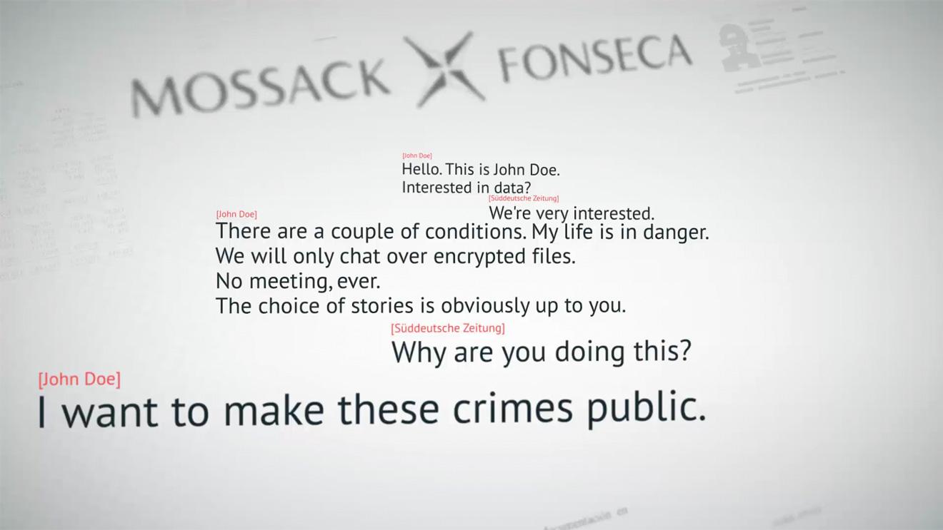 Conversation between German newspaper Süddeutsche Zeitung and the anonymous source of Panama Papers.
