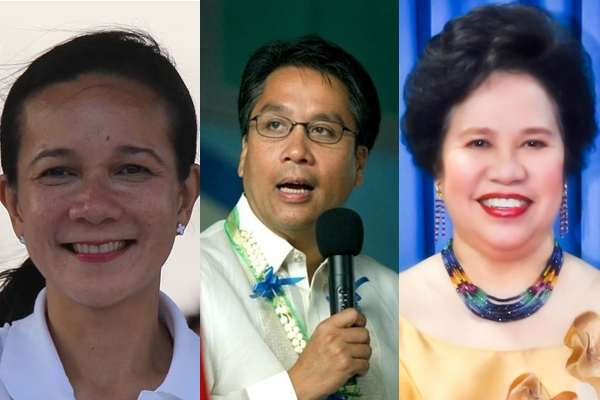 Presidential aspirants (L-R) Senator Grace Poe, former DILG chief Mar Roxas, and Senator Miriam Defensor-Santiago (Facebook photos)