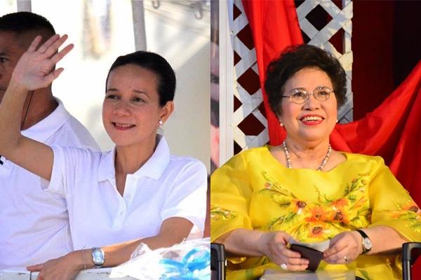 Presidential aspirants Sen. Grace Poe and Sen. Miriam Defensor-Santiago. (Facebook photos)