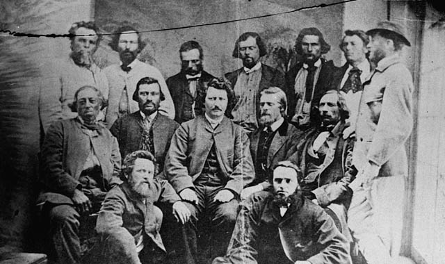 Councillors of the Métis Provisional Government, 1870. (Photo: Library and Archives Canada., Public Domain.)