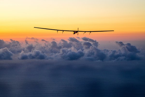 The Swiss-made Solar Impulse 2 is now on course to land in Mountain View, California, in about three days. (Photo: Solar Impulse/Twitter)