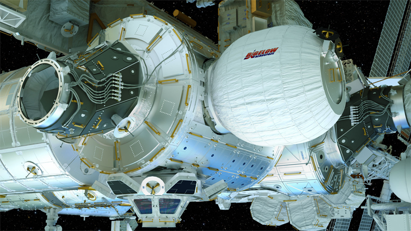 The Bigelow Expandable Activity Module (BEAM). (Photo: Bigelow Aerospace)