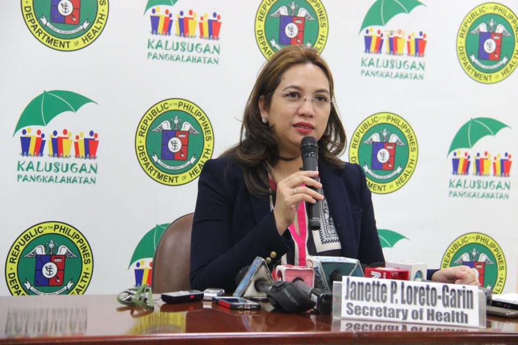 """Vaccination is a modern healthcare solution that brings benefits, so we should all take advantage of it as much as possible,"" DOH Secretary Dr. Janette Garin stressed. (Photo: DOH's official Facebook page)"