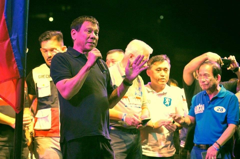 "Presidential aspirant Mayor Rodrigo ""Rody"" Duterte (Facebook photo)"