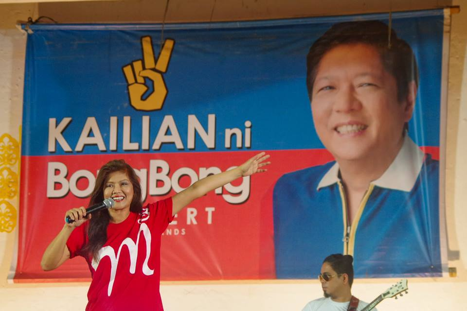 Unopposed Governor Imee Marcos during a campaign for her brother Bongbong Marcos' vice presidential bid. (Facebook photo)