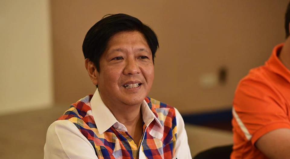 Vice presidential candidate Senator Ferdinand Marcos, Jr. (Facebook photo)