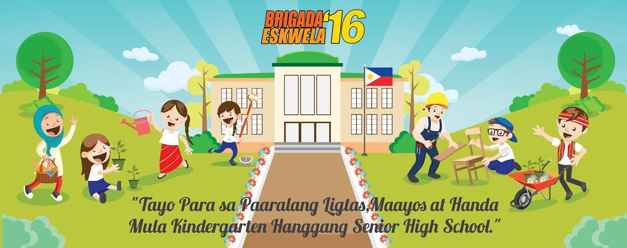 """DepEd is simultaneously conducting """"Brigada Eskwela"""" from Monday until Saturday, a nationwide effort to do maintenance works in all public and elementary and secondary schools. (Facebook photo)"""