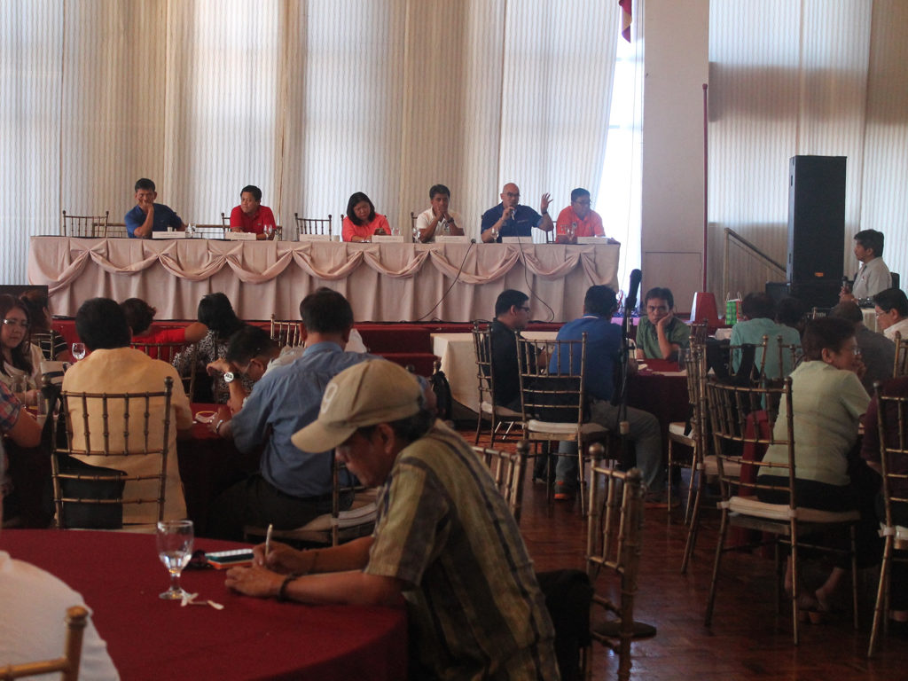 The labor sector called on national candidates to present a clear agenda to address contractualization in the private and public sectors during the Forum to Address Precarious Work at Rembrandt Hotel in Quezon City. (Photo from the National Anti-Poverty Commission's website)