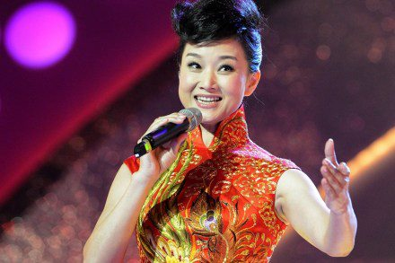 Famed singer of patriotic anthems Song Zuying (in photo) headlined a tour of China's man-made islands in the South China Sea's Spratly islands this week, underscoring Beijing's confidence in asserting its increasingly dominant position in the disputed region. (Facebook photo)