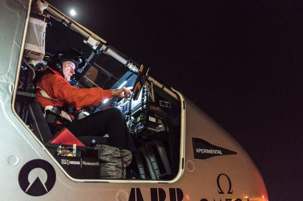 Swiss pilot Andre Borschberg (in photo) will be at the helm of the plane that began circumnavigation the globe last year. (Photo: Andre Borschberg/Twitter)