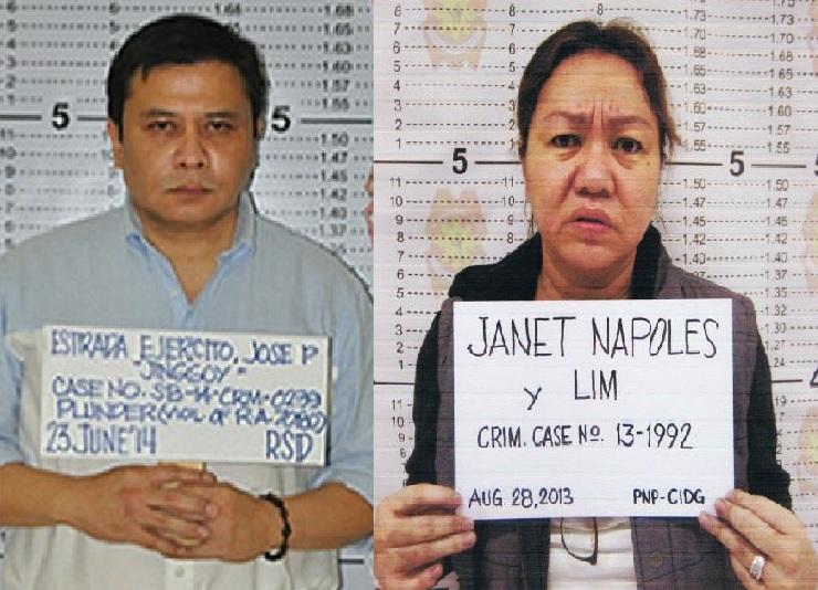 Jinggoy Estrada Janet Lim Napoles mugshots