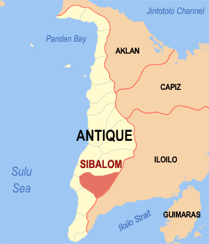 Map of Sibalom, Antique.
