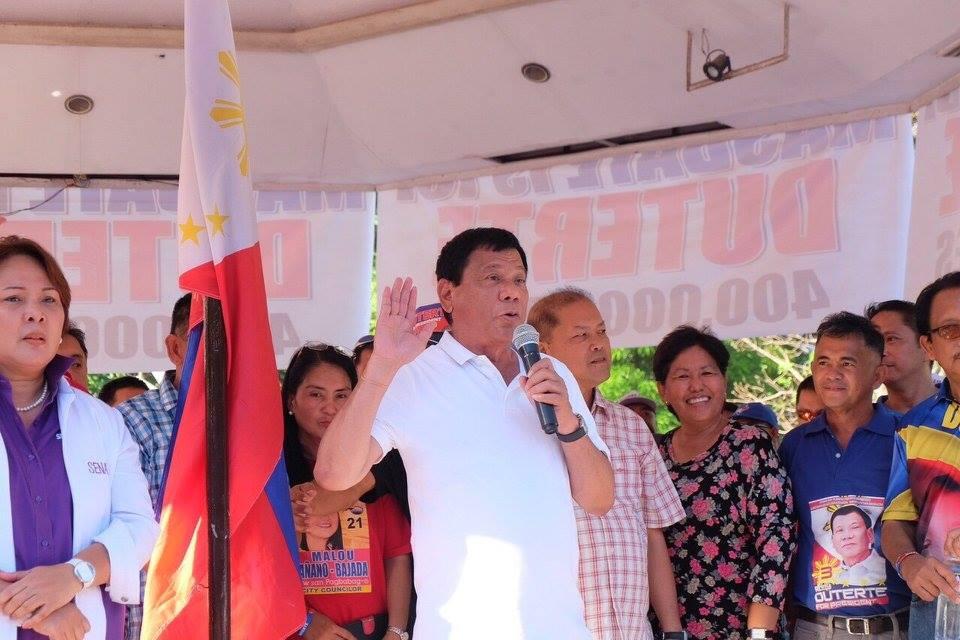 "President-elect Rodrigo ""Rody"" Duterte (Facebook photo)"