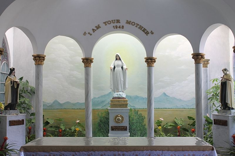The Marian Apparition in 1948 has been enshrined in a monastery church in Lipa, Batangas.  (Wikipedia photo)