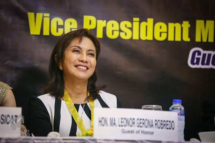 """Looking closely, it would appear I was the most honest in declaring my campaign expenses. Before accepting donations, we were particular against them asking for favors,"" the vice president-elect said. (Photo: Robredo's official Twitter account)"