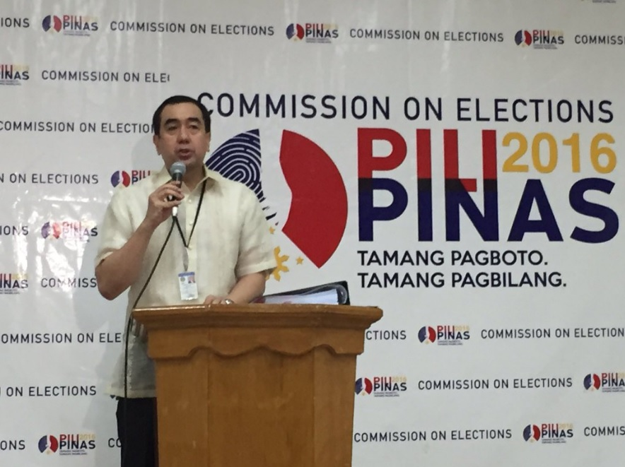 Comelec Chairman Andy Bautista. (Photo: Comelec Commissioner James Jimenez/Twitter)