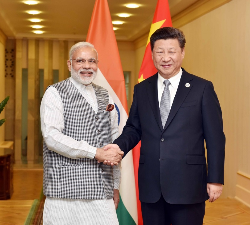 Indian Prime Minister Narendra Modi and Chinese Prime Minister Xi Jinping. (Photo: Narendra Modi/Twitter)