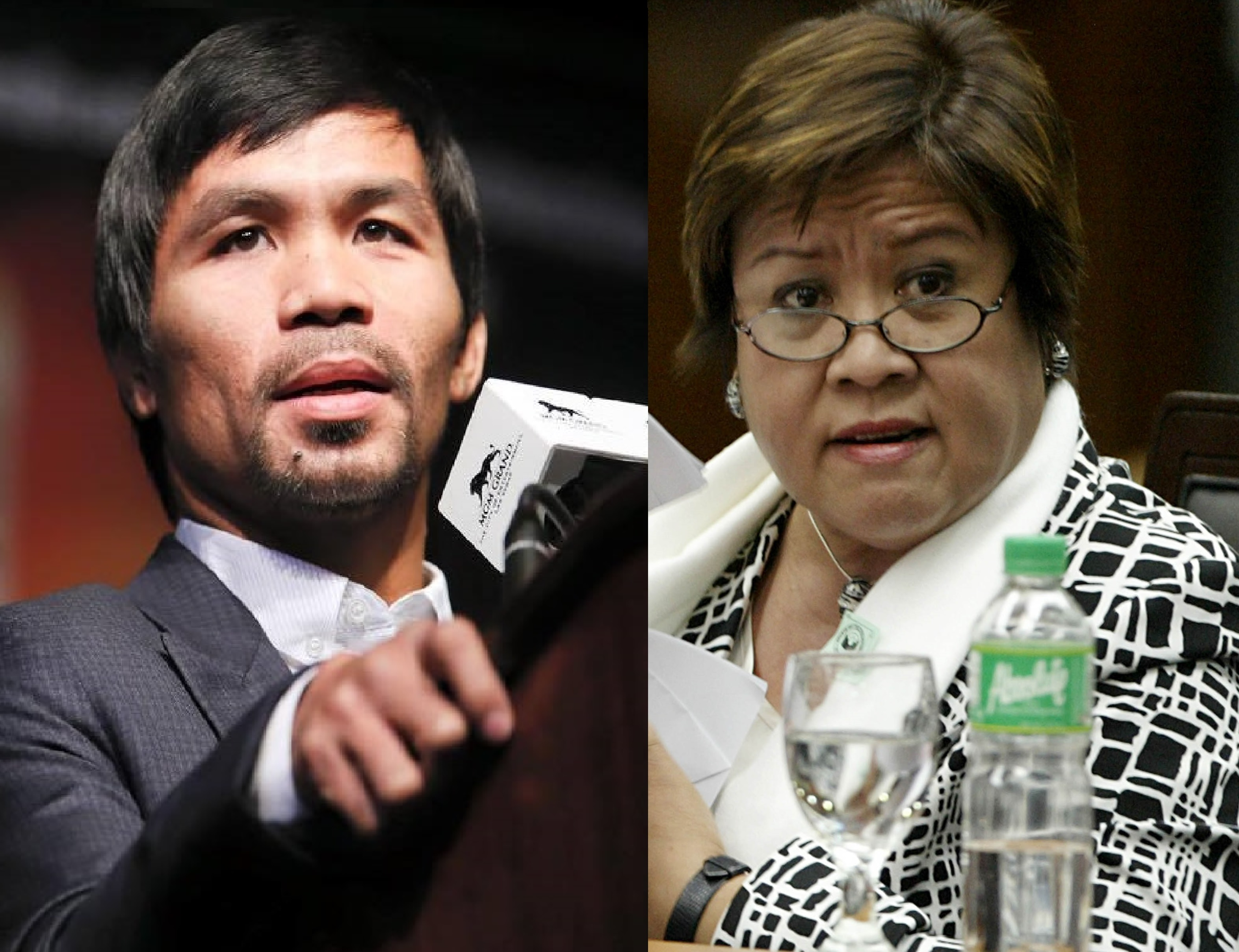 Senators-elect Manny Pacquiao and Leila de Lima. (Facebook photos)