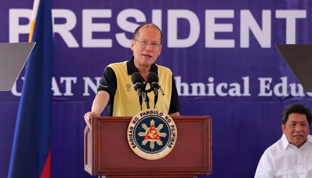 "In a media interview, President Aquino said his phone conversation with Duterte on Thursday was ""pleasant."" (Photo: Joseph Vidal/ Malacañang Photo Bureau)"