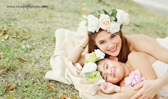 Kapamilya actress Vina Morales with her 7-year-old daughter, Ceana Lee. (Photo: Morales' official Instagram account)