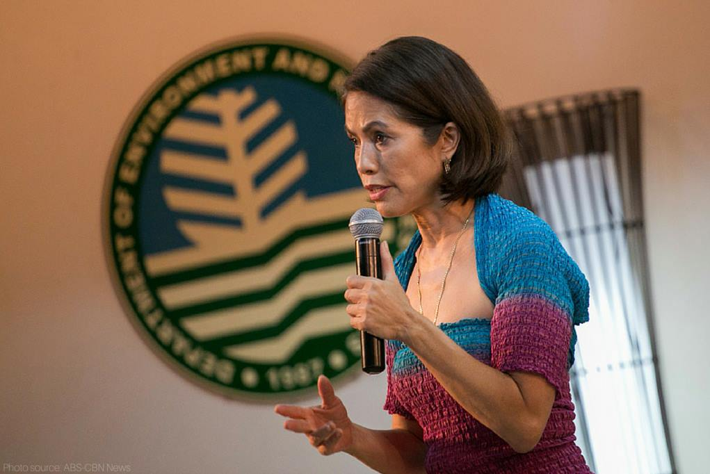 Environment Secretary Gina Lopez, a staunch environmentalist who has deplored the environmental degradation caused by open-pit mines, made the announcement with her undersecretary, Leo Jasareno.. (Facebook photo)