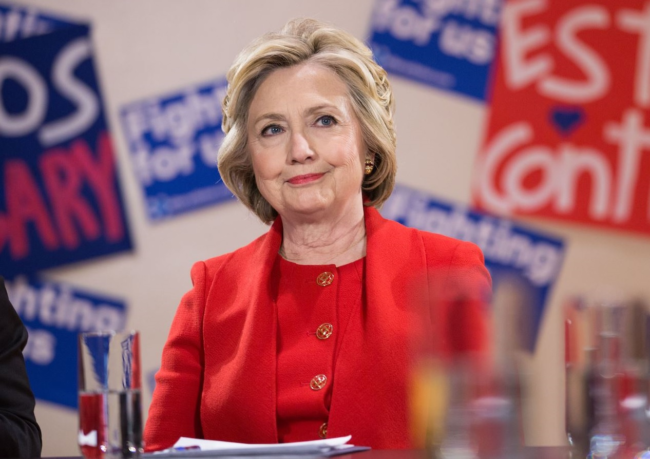 A spirited Hillary Clinton took on the Trump administration Tuesday in one of her first public speeches since she lost the presidential election, criticizing the country's Republican leaders on everything from health care to the shortage of women appointees in top administration positions. (Photo: Hillary Clinton/Facebook)