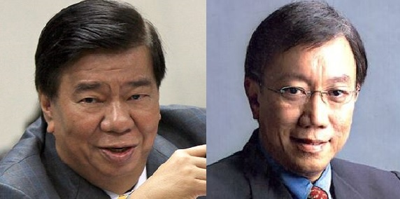 Senate President Franklin Drilon (left) and Solicitor General Jose Calida (right) (Twitter and Facebook photos)