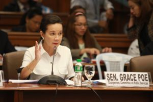 Poe, Chair of the Senate Committee on Public Services, suspended the supposed third hearing on the proposed powers on Tuesday saying that the DOTr has yet to submit a concrete projects which need the powers. (Facebook photo)