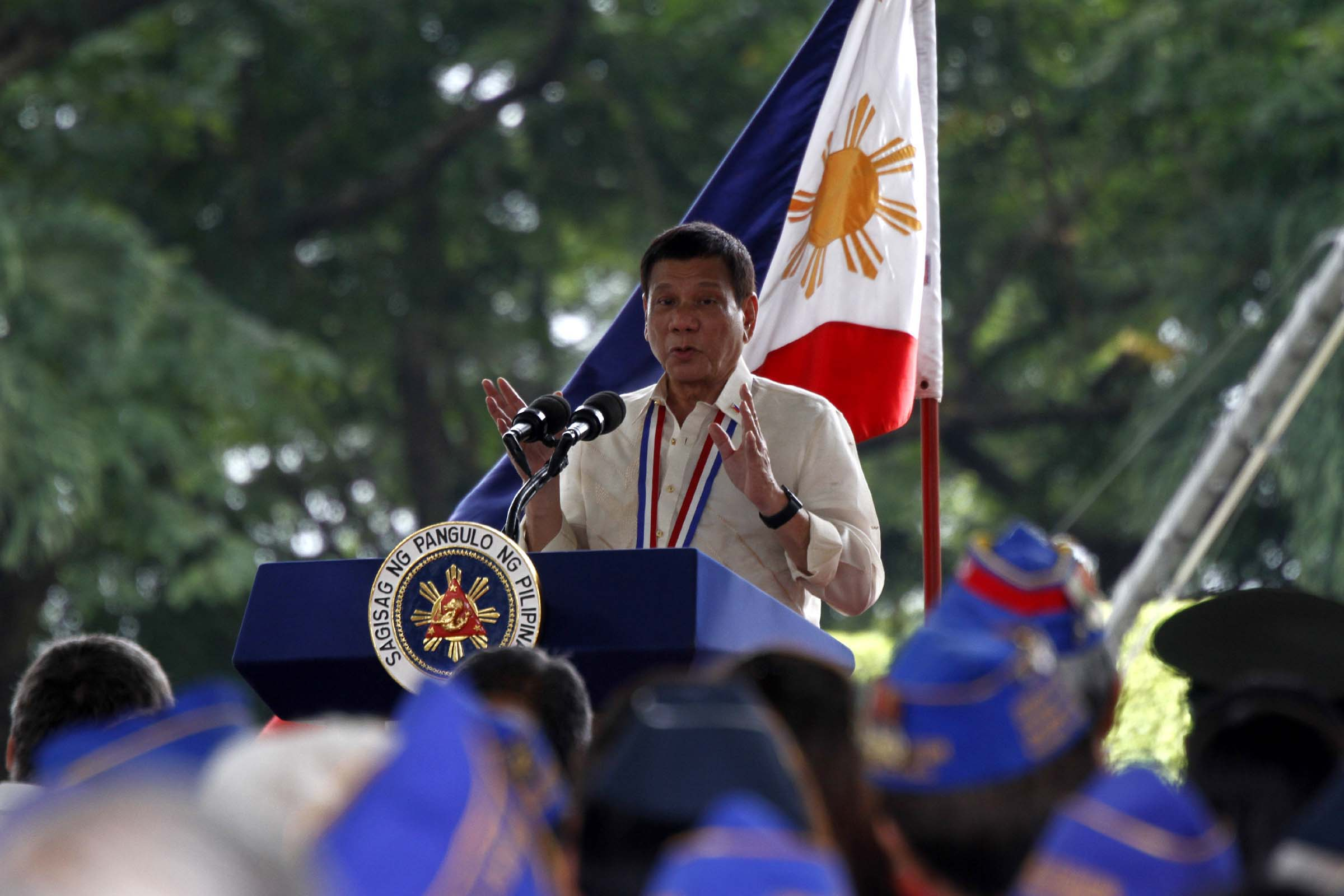 "Citing recent incidents that wrecked havoc in the society, Duterte said, ""we will remain firm in our resolve to combat terrorism in various forms and manifestations."" (Photo Avito Dalan/PNA)"