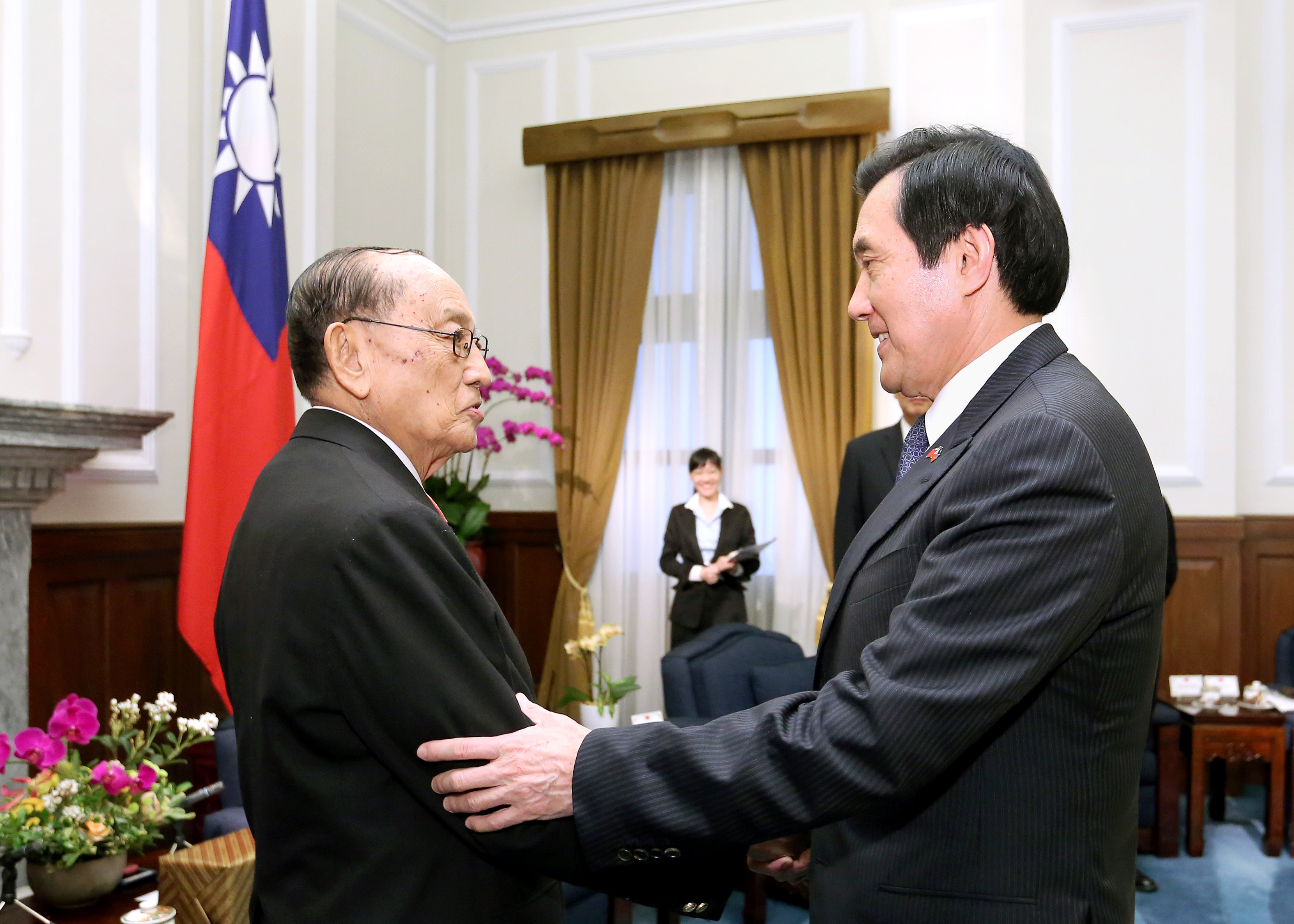 FORMER PRESIDENTS: Philippines' Fidel V. Ramos (left) and China's Ma Ying-jeou. (File photo by 總統府/Flickr)