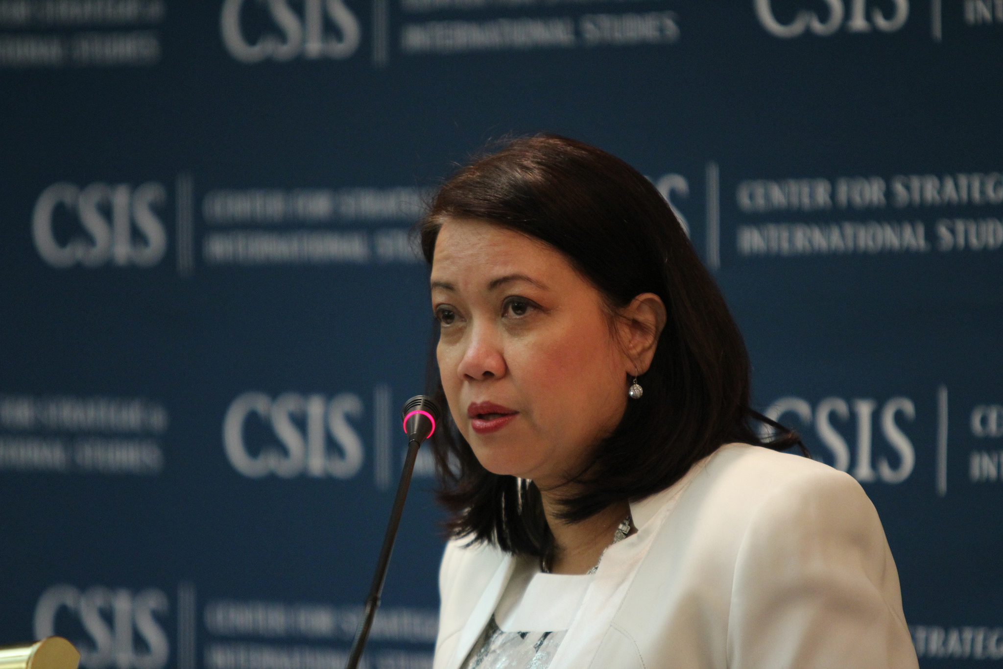 Supreme Court Chief Justice Maria Lourdes Sereno. (Photo by Center for Strategic and International Studies/Flickr)