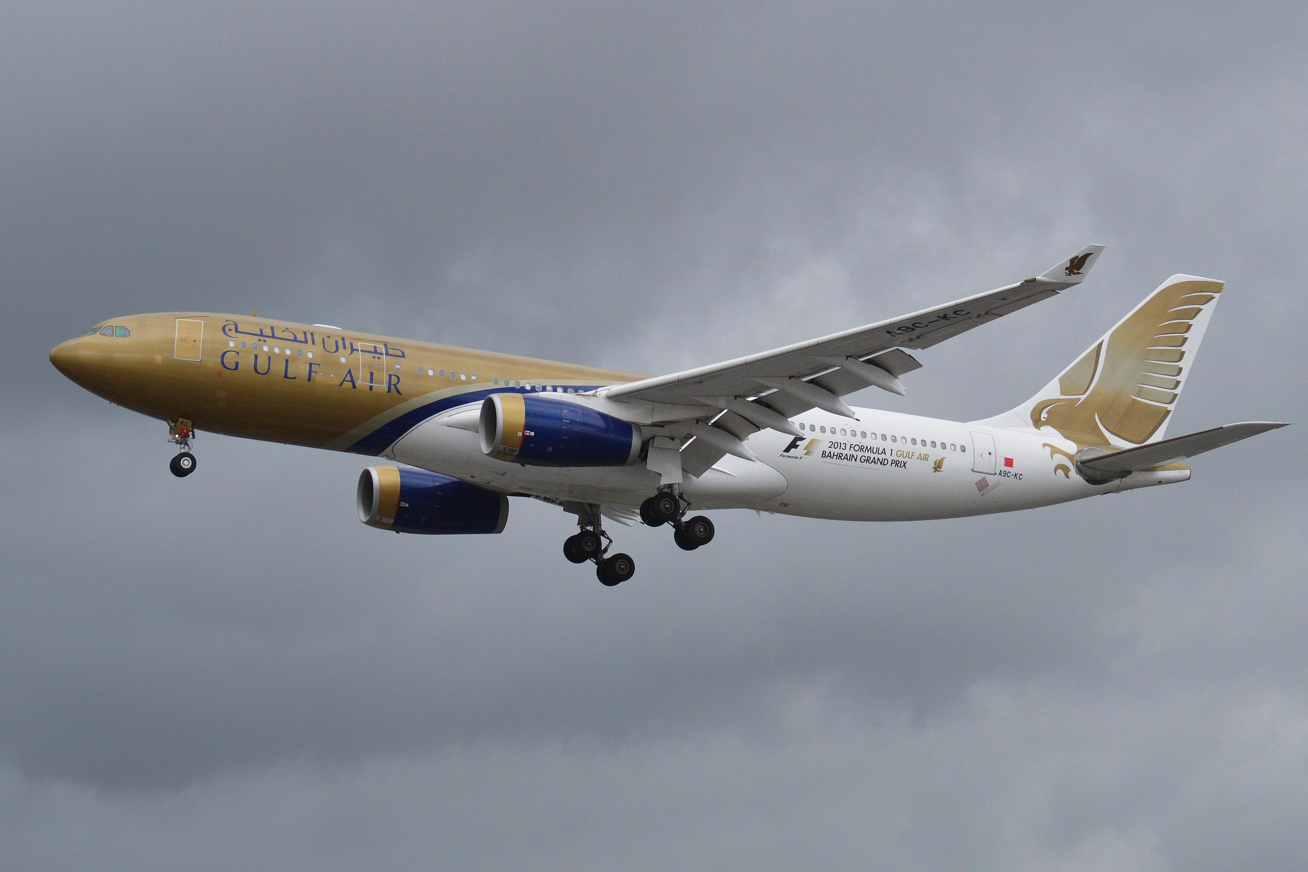 FILE PHOTO: Gulf Air Airbus 330-200 (Photo by Alan Wilson, CC BY-SA 2.0.)
