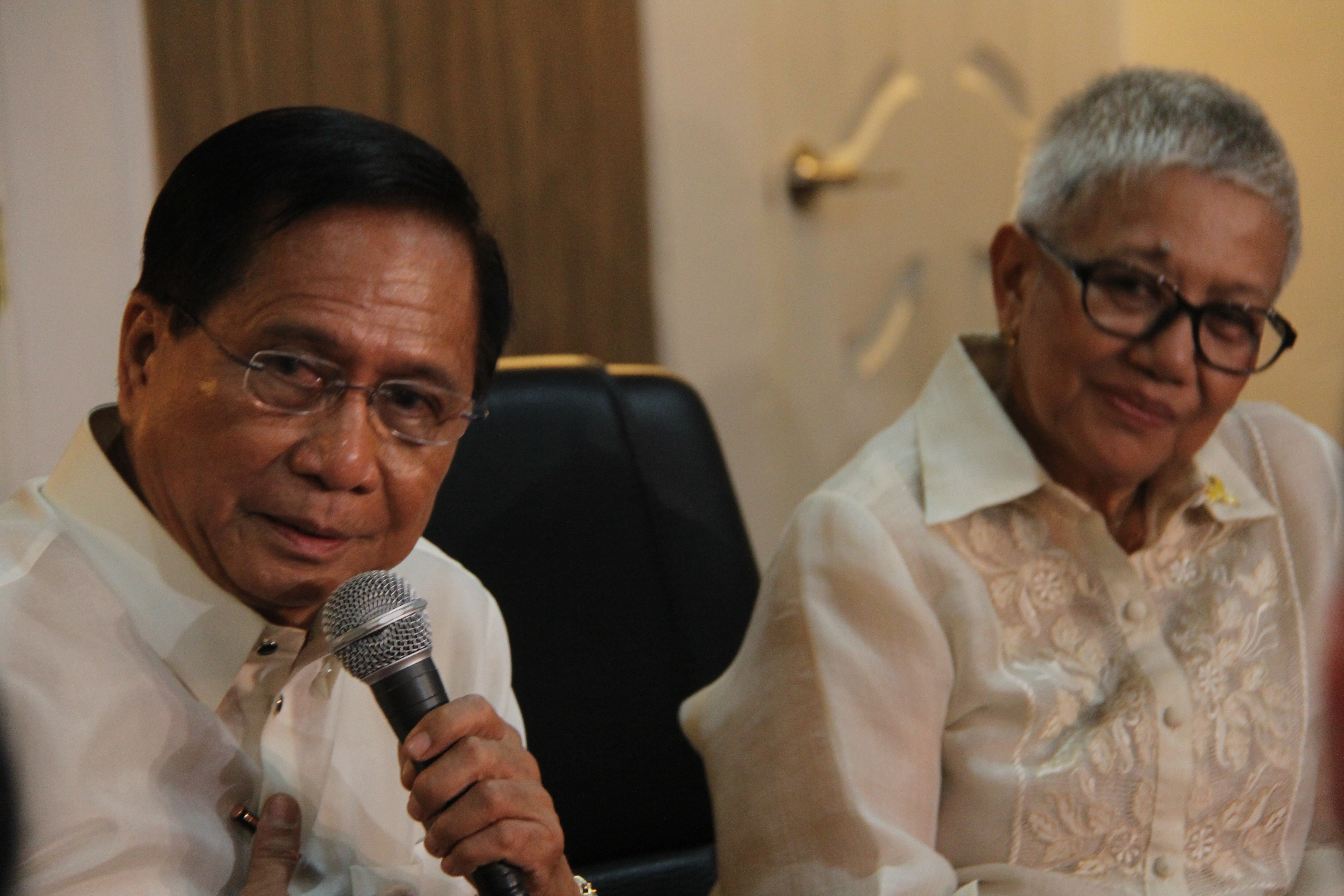 Presidential Peace Adviser Jesus G. Dureza (left) with Former Presidential Adviser on the Peace Process Sec. Teresita Quintos-Deles. (Photo: OPAPP)
