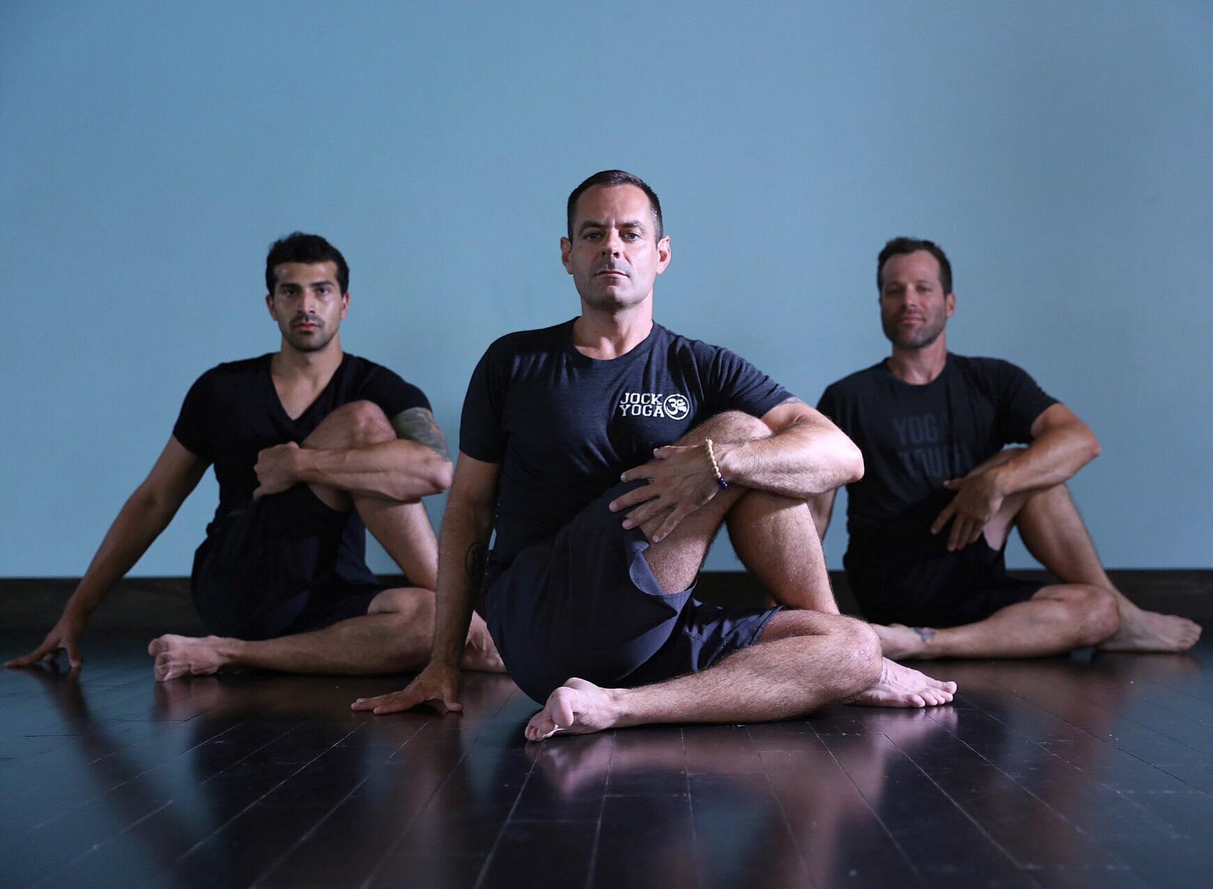 "ys Michael DeCorte, the Toronto ""man-treprenuer"" behind Jock Yoga. (Facebook photo)"