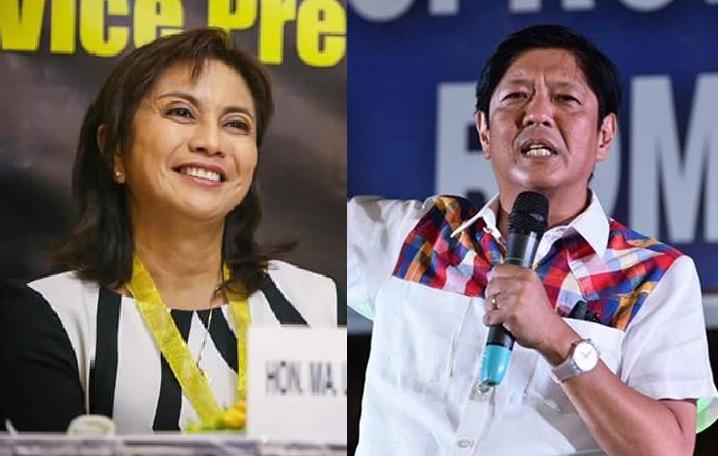 """Vice-President Leni Robredo and Senator Ferdinand """"Bongbong"""" Marcos. (Facebook photos)"""