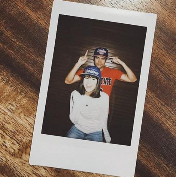 Actor Sam Milby with his non-showbiz girlfriend Mari Jasmine. (Instagram photo)