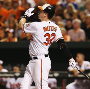 Matt Wieters hit a go-ahead, two-run homer off Jason Grilli in the eighth inning to lead Baltimore to a 5-3 victory over Toronto on Tuesday night.  (Photo: Baltimore Orioles' official Instagram account)