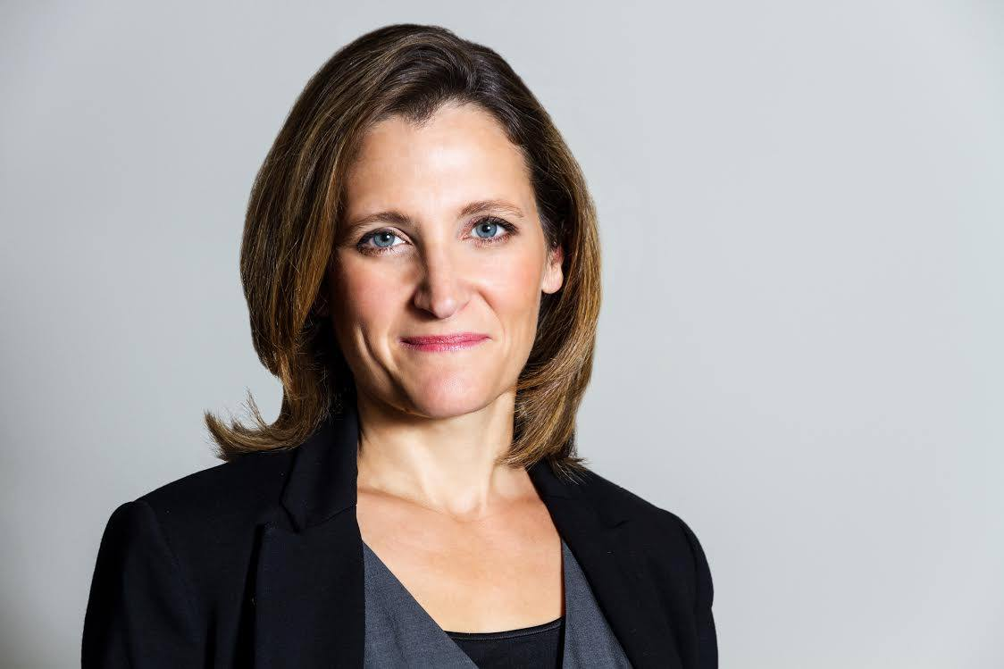 Chrystia Freeland says it's important to ratify the agreement and demonstrate that anti-globalization forces can be beaten. (Photo: Chrystia Freeland/Facebook)