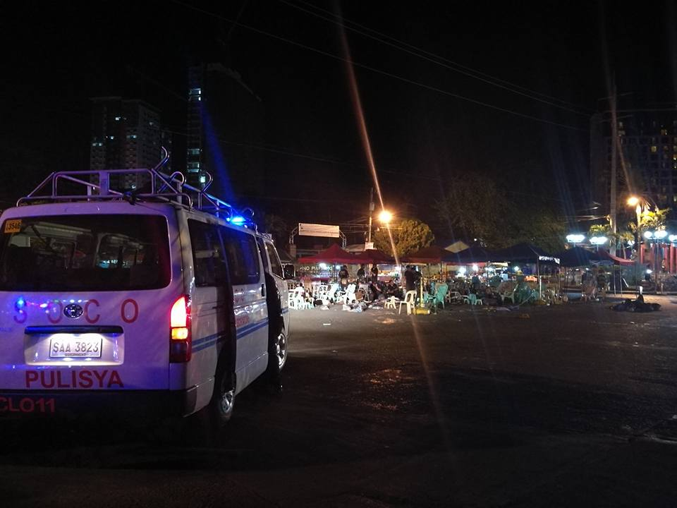 SCENE OF THE CRIME: September 2 blast in Davao City, Philippines. (Facebook photo)