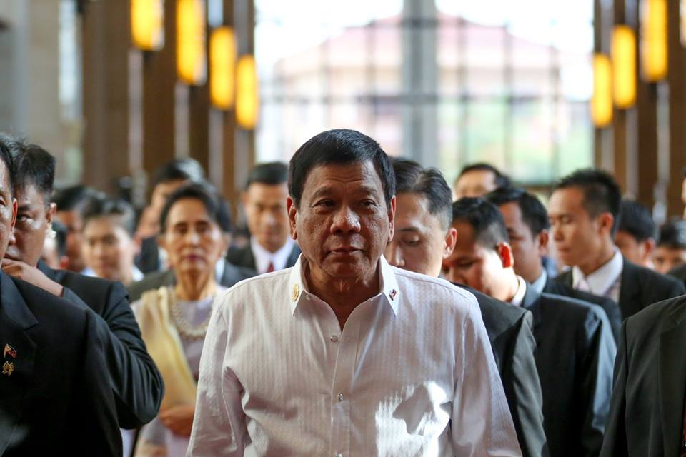 Philippine President Rodrigo Duterte (Photo: President Duterte's official Facebook page)