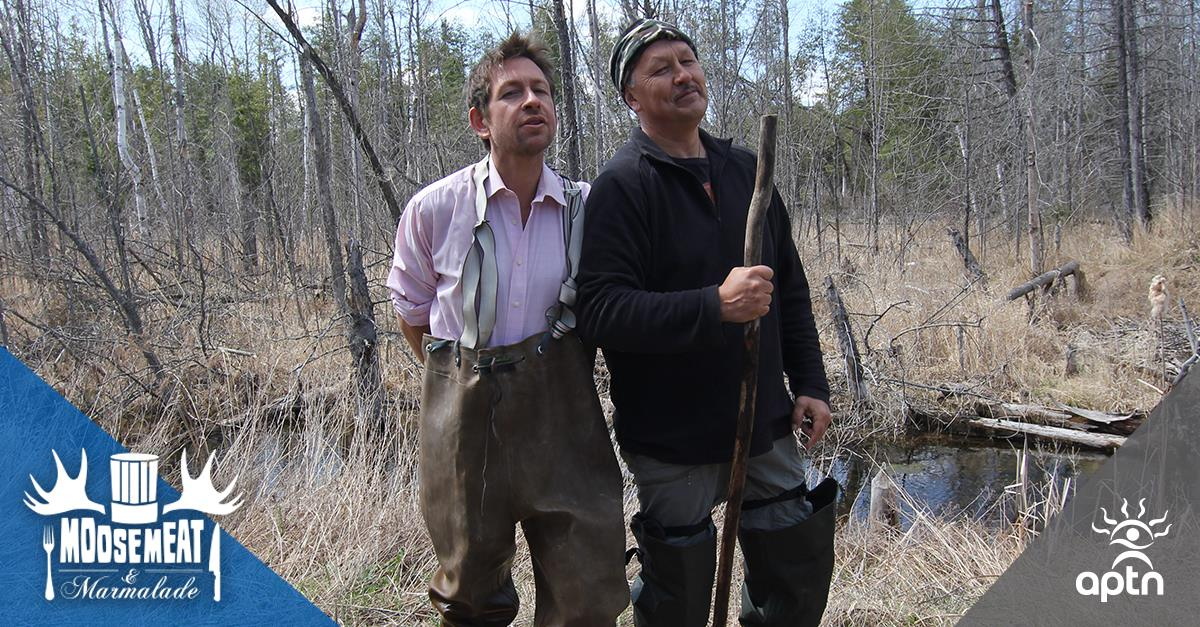 Chefs Art Napoleon and Dan Hayes on Moosemeat and Marmalade (Photo from  APTN's Facebook page)