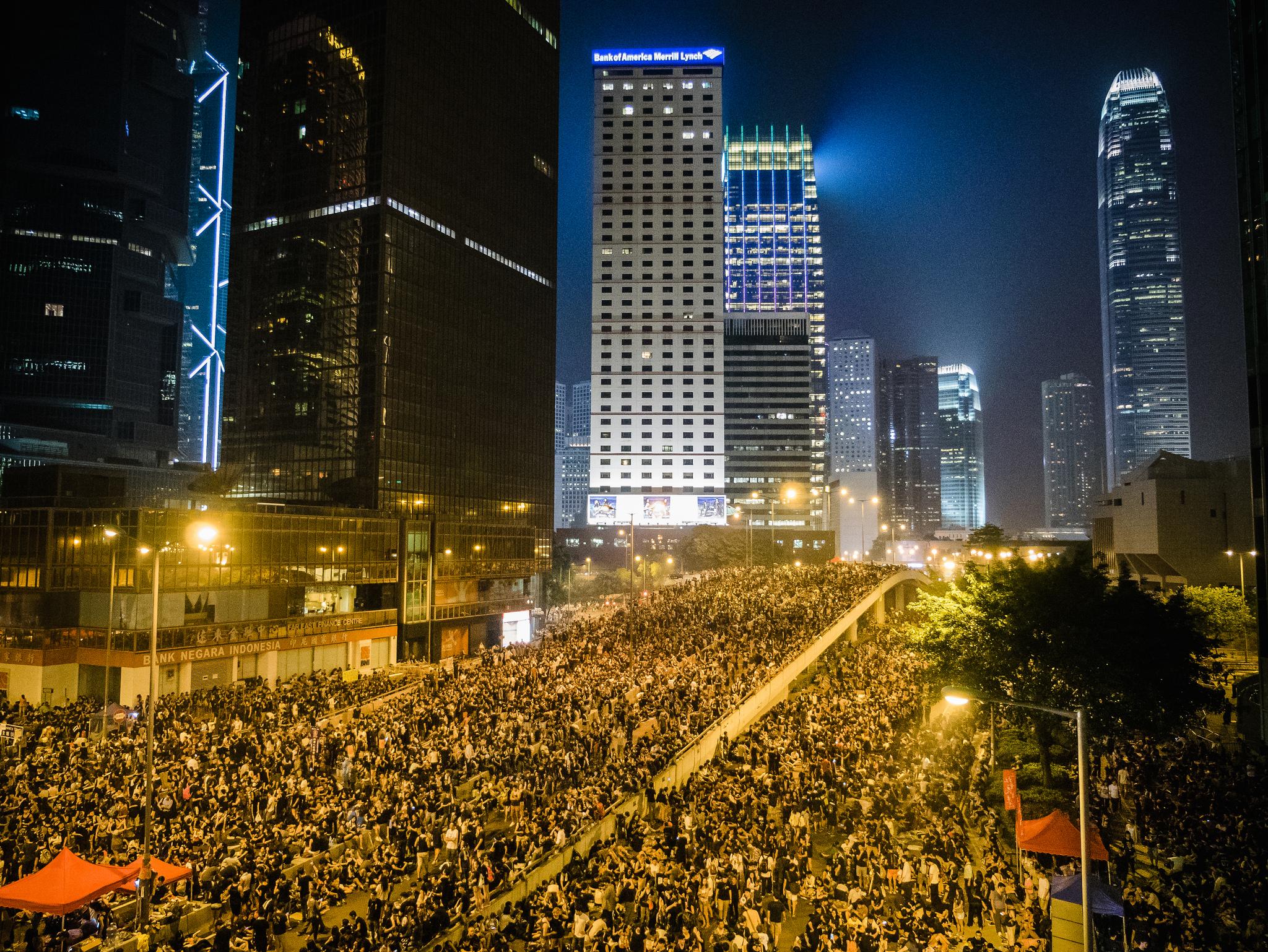Hong Kong 'umbrella' protest. (Photo: Studio Incendo/Flickr)