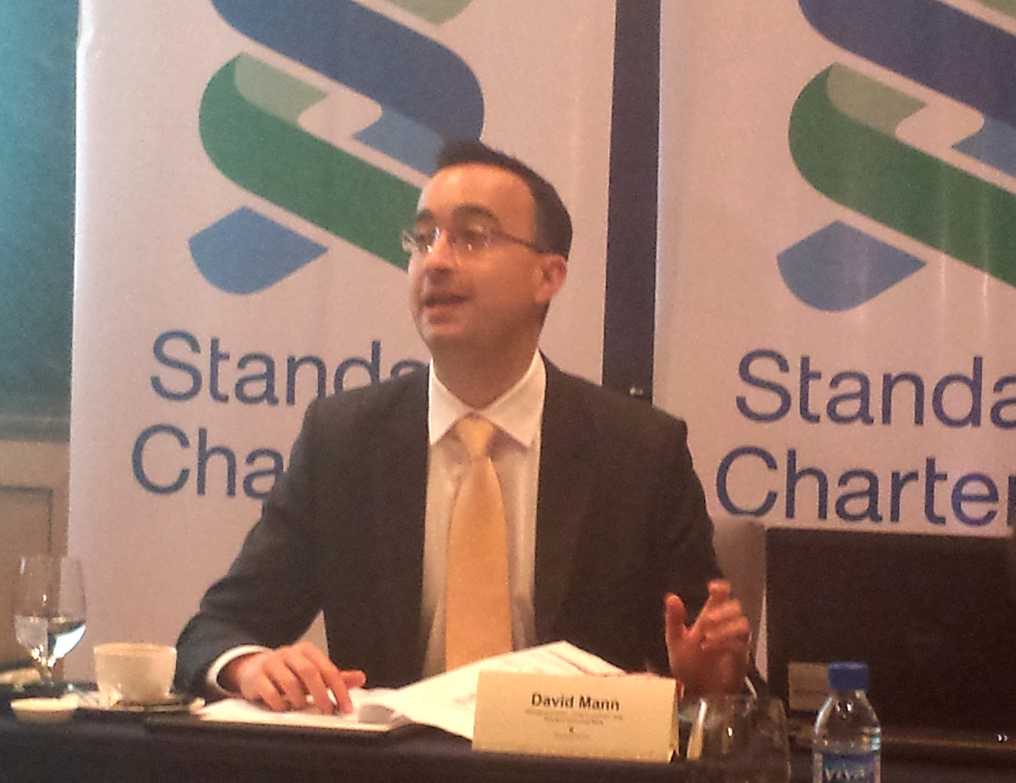 Standard Chartered Bank's chief economist for Asia David Mann, in a press briefing in Taguig City Tuesday, said it is possible for the Philippines to increase its GDP growth from the current average of more than 6.0 percent to a range of 7.0 percent to above 8.0 percent in the next five years. (PNA photo)