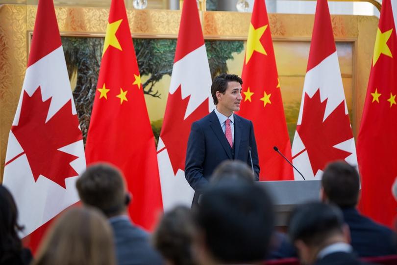 FILE PHOTO: PM Justin Trudeau in China. (PMP photo by Adam Scotti)