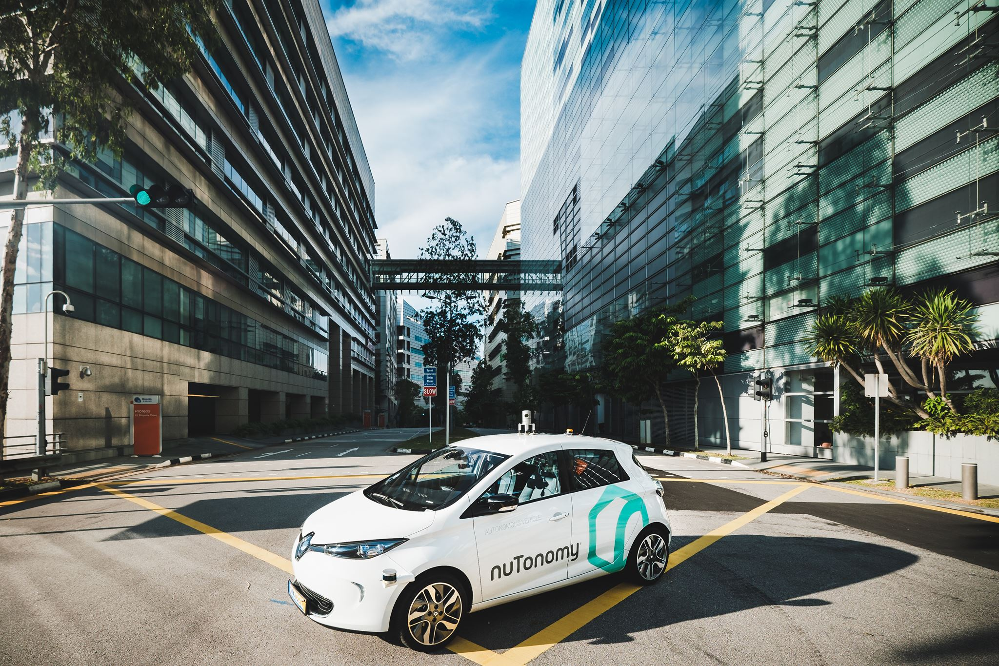 NuTonomy, a spinoff from the Massachusetts Institute of Technology, announced Friday that the public can now book self-driving taxis through an app by Grab, the biggest ride-hailing company in Southeast Asia. (Facebook photo)