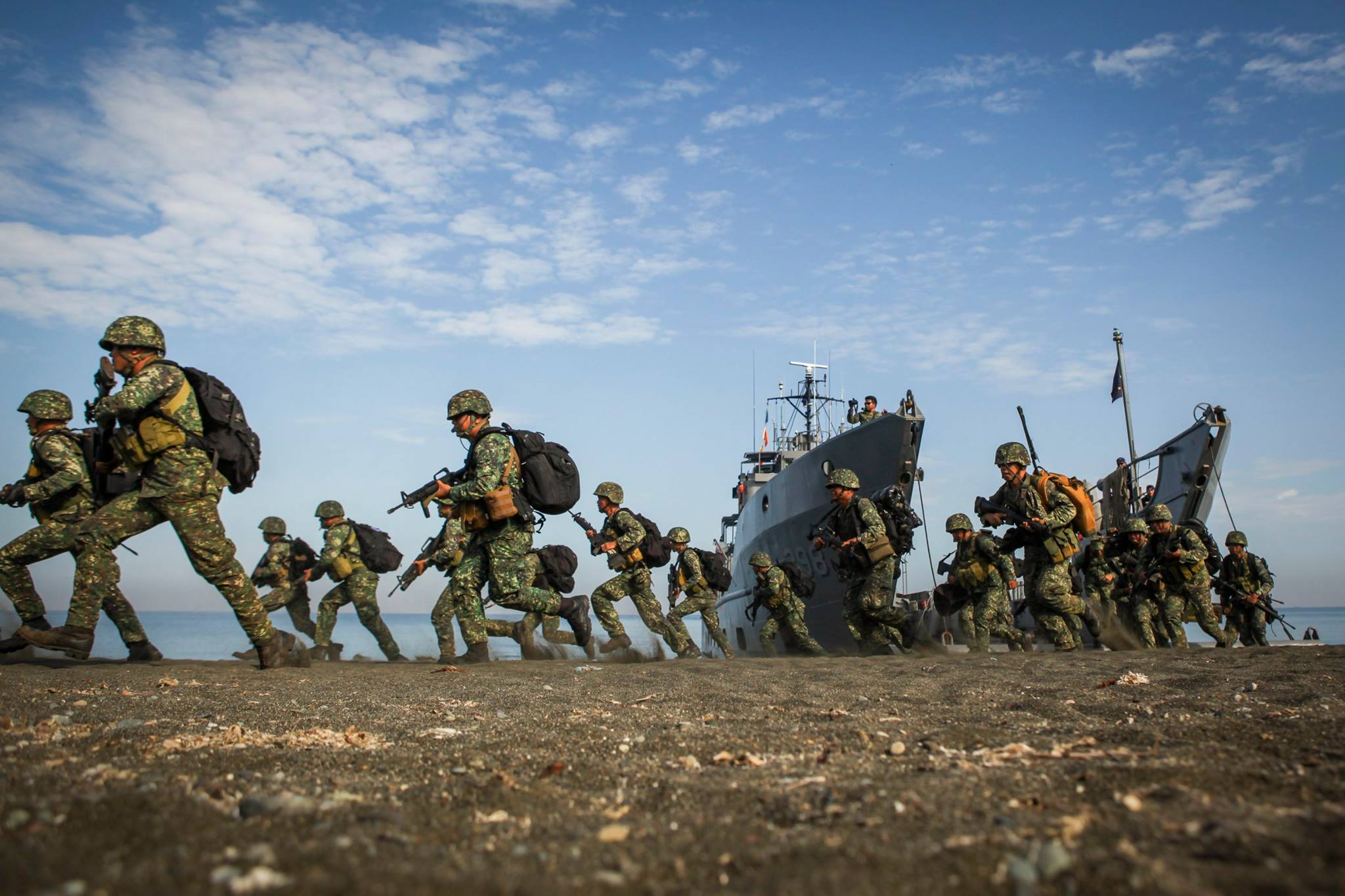 """Duterte had said if the U.S. builds an arms depot """"I will consider a review and maybe ultimately abrogate"""" the pact all together.(File photo by U.S. Marine Corps photo by Cpl. Hilda M. Becerra / Released)"""
