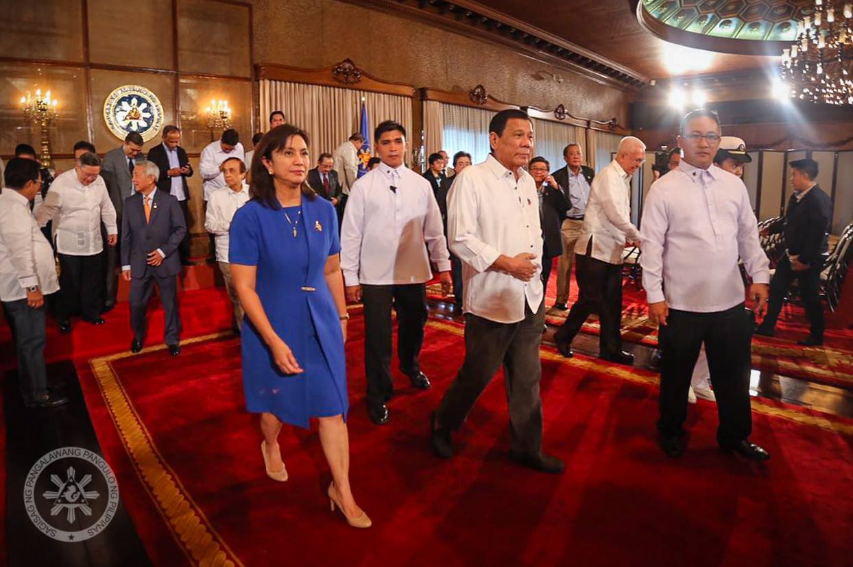 "The Vice President's resignation from her post as Housing Secretary was prompted by Duterte's directive for her to ""desist from attending all Cabinet meetings."" (Photo: Leni Robredo/Facebook)"