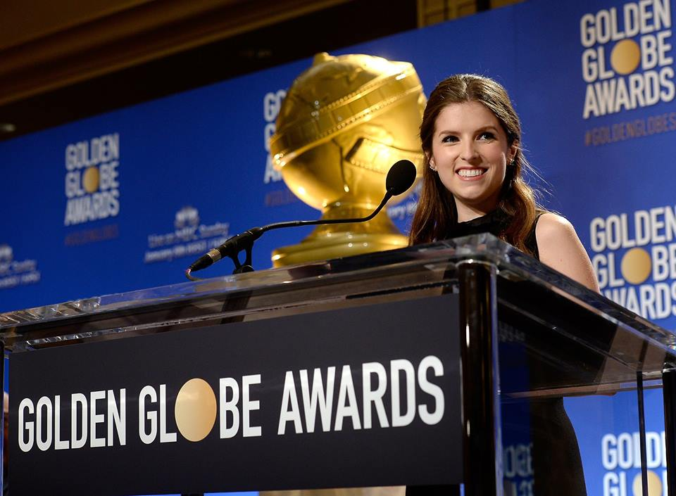 Anna Kendrick at the 74th Golden Globe Awards Nominations night (Photo from Golden Globes' Facebook account)