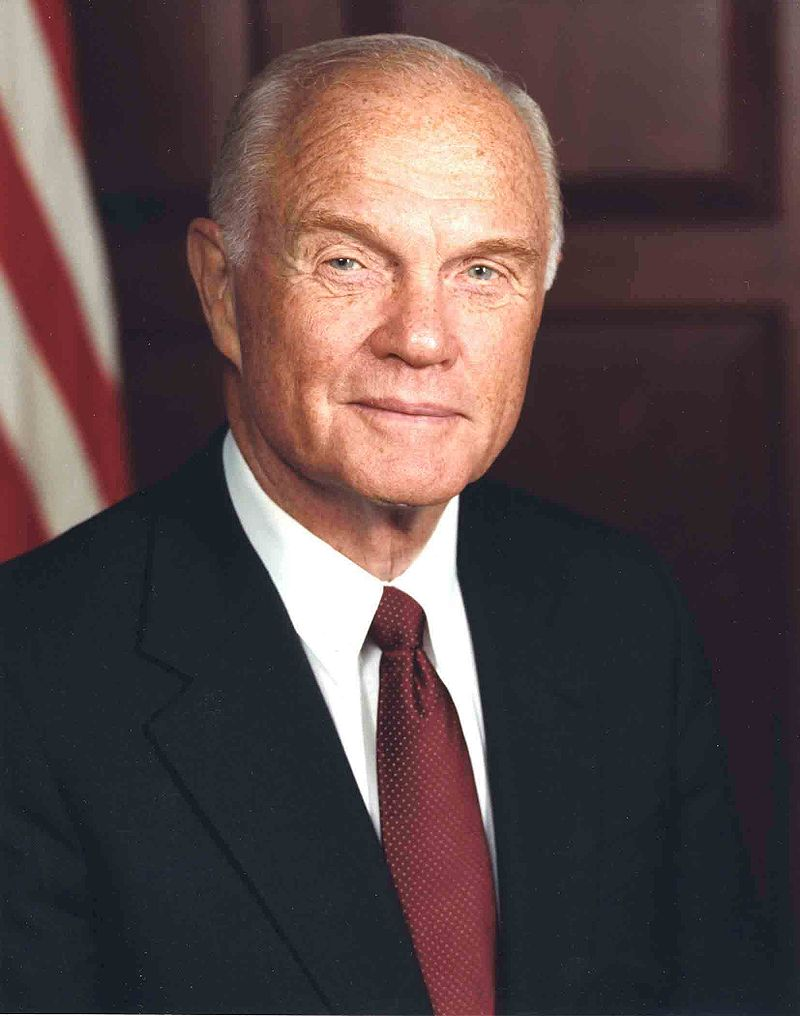 "As Air Force officials investigate allegations that inspectors were invited to view the remains of astronaut and former U.S. Sen. John Glenn at Dover Air Force Base, a military mortuary chief said that Glenn's remains were treated with ""impeccable care."" (Wikipedia Photo)"
