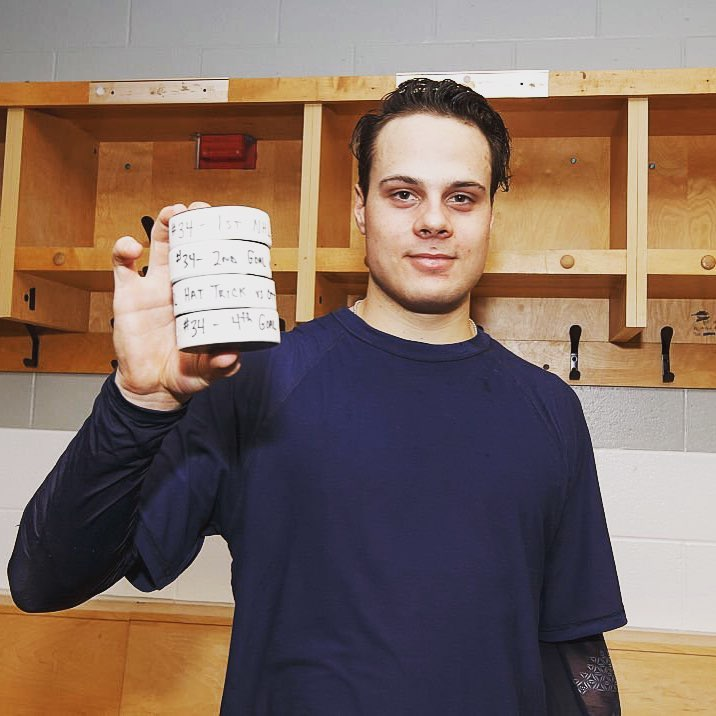 Auston Matthews (Photo from Toronto Maple Leafs' Facebook page)